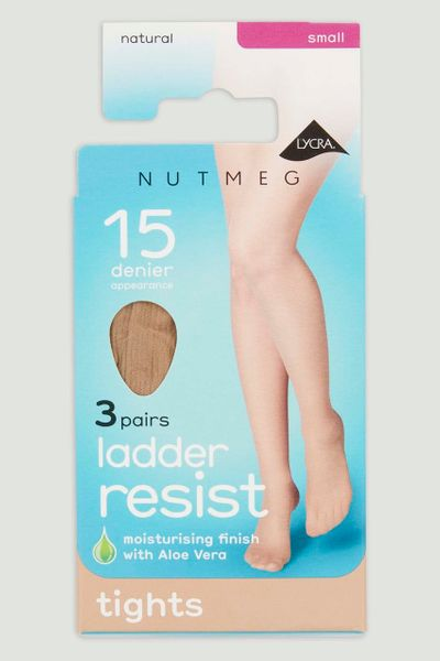 3 Pack 15 Denier Natural Tights