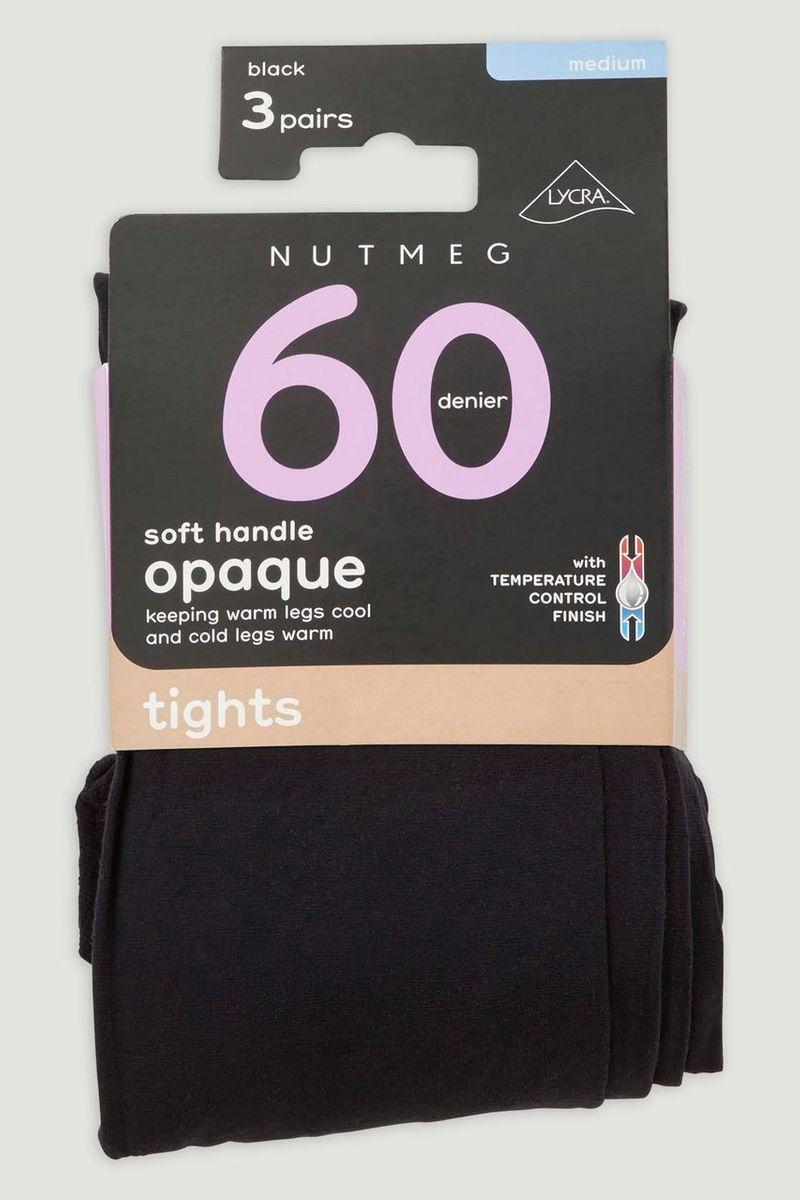 Black 3 Pack 60 Denier Tights