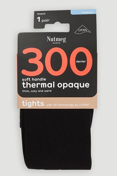 300 Black Denier Thermal Tights