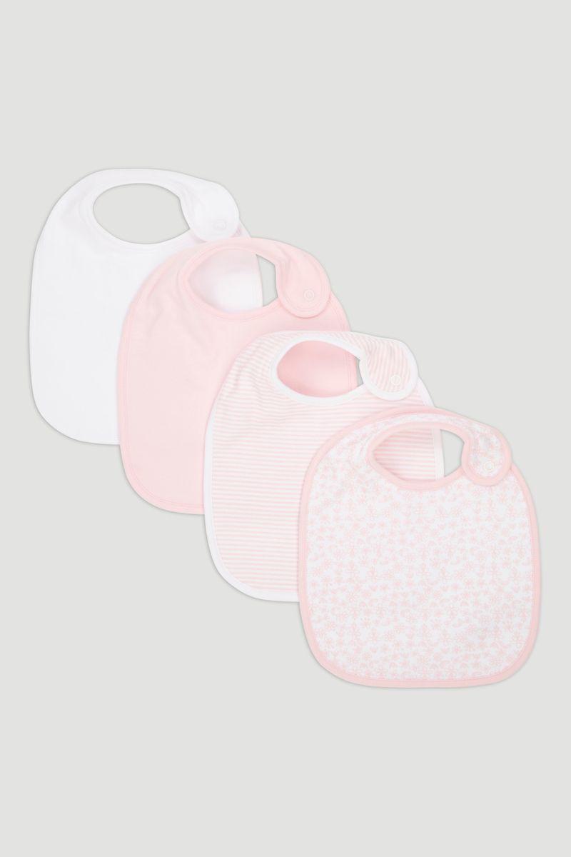 4 Pack Pink Bibs