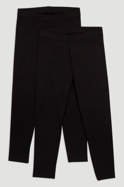 2 Pack Black Leggings 3-14yrs