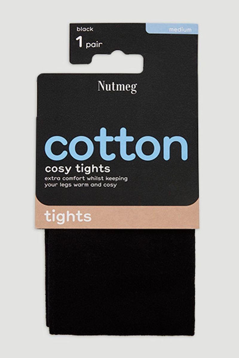 Black Cotton Tights