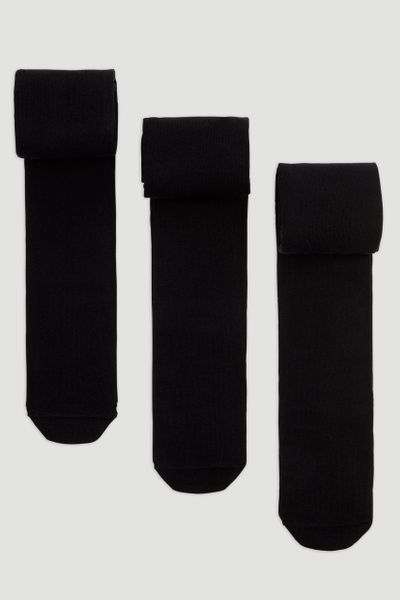3 Pack Supersoft Black Tights