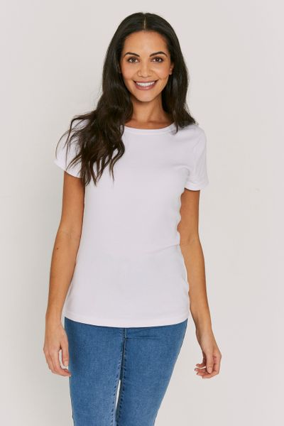 Basic Fitted White Top