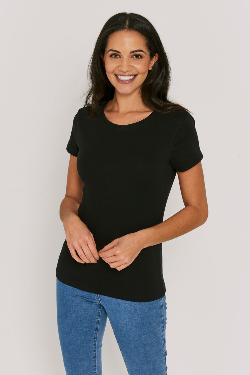 Basic Fitted Black Top