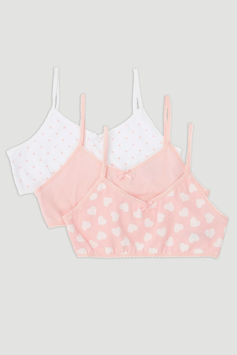3 Pack Pink & White Crop Tops