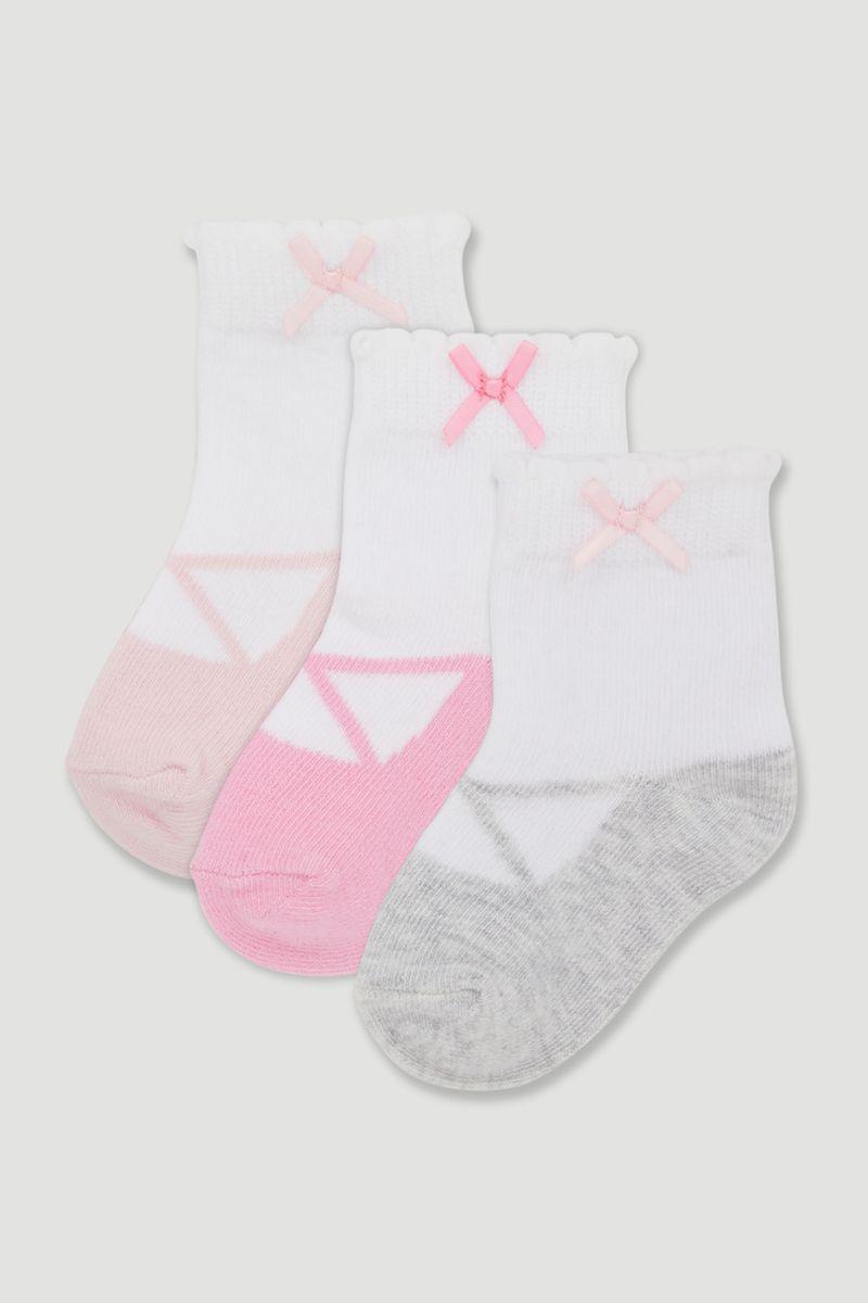 3 Pack Ballet Socks