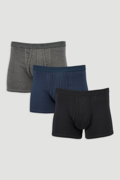 3 Pack Plain Trunks