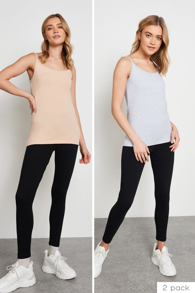 2 Pack Black Stretch Leggings