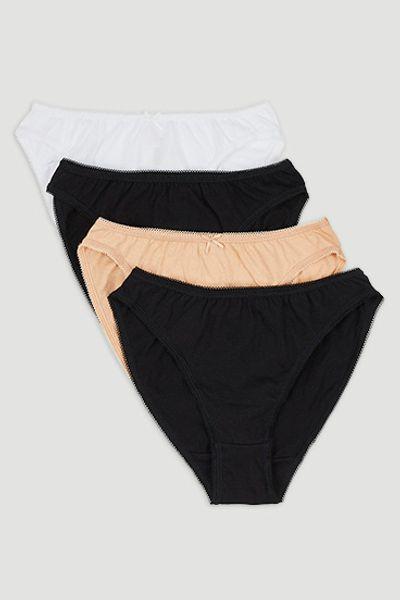 4 Pack High Leg Briefs