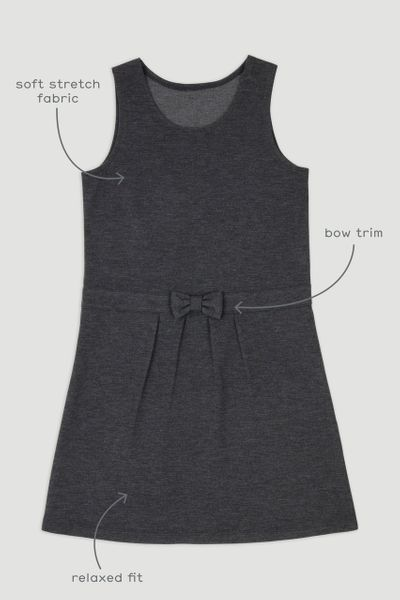 Charcoal Ponte Pinafore