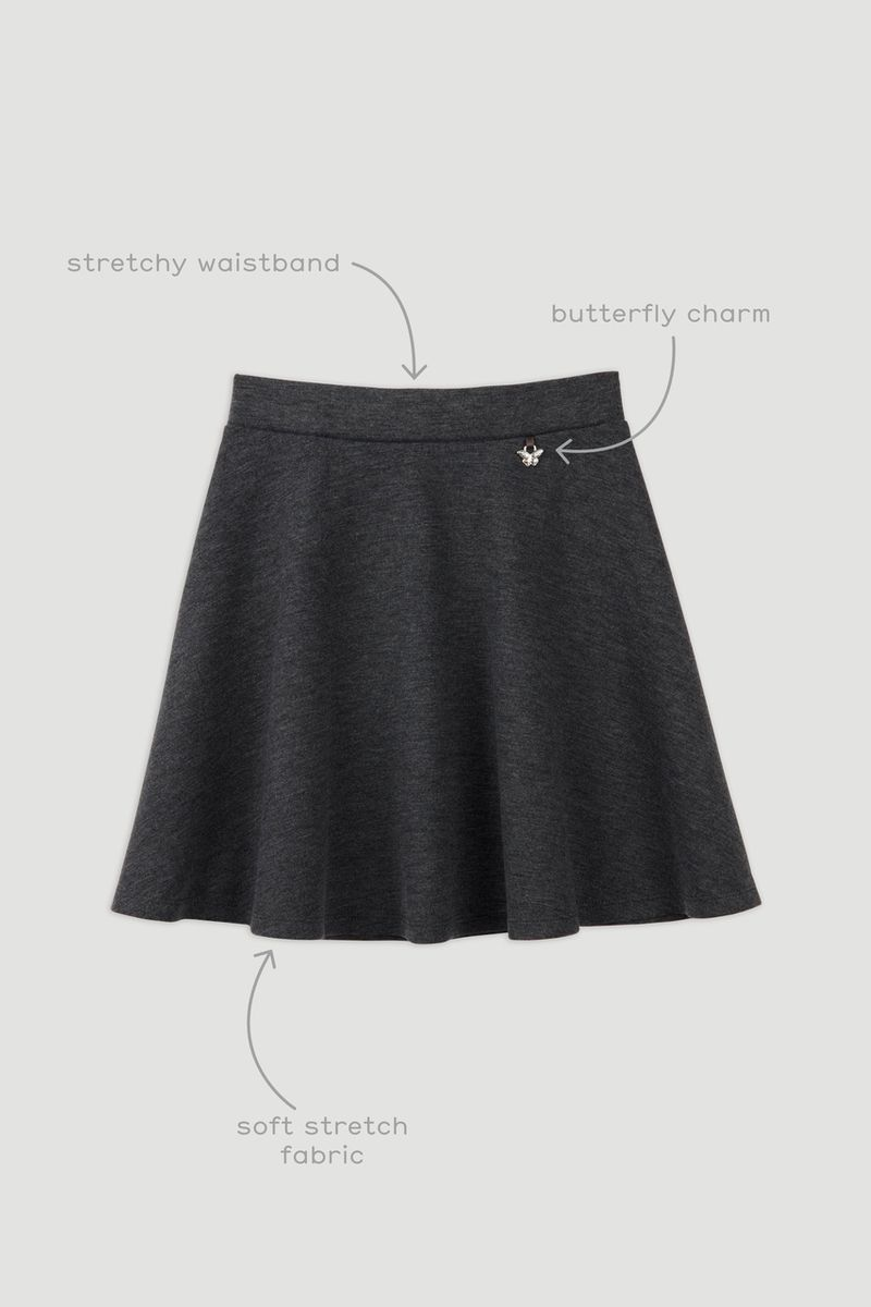 Charcoal Grey Ponte Skater Skirt