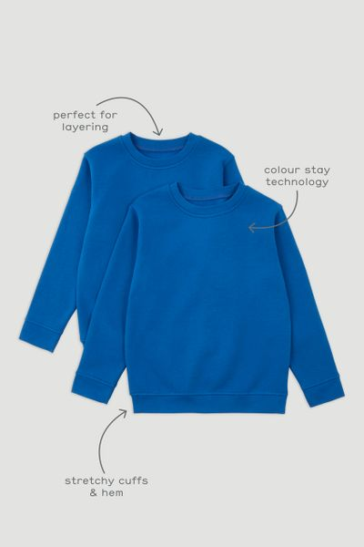 2 Pack Cobalt Blue Sweatshirts