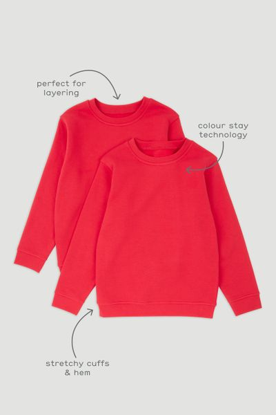 2 Pack Red School Sweatshirt