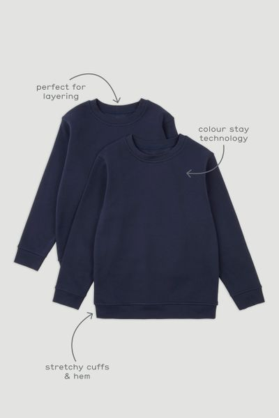 2 Pack Navy Sweatshirts