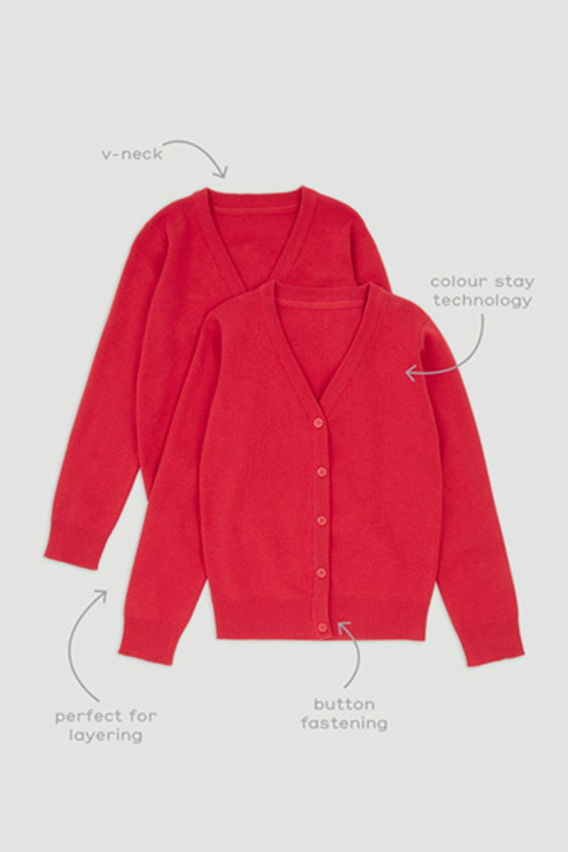 Red 2 Pack Cardigans