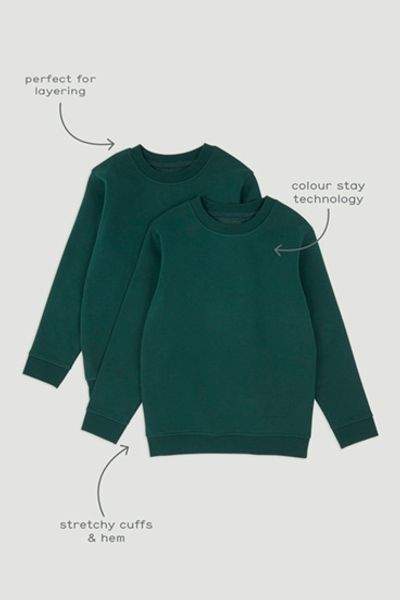 2 Pack Green Sweatshirts