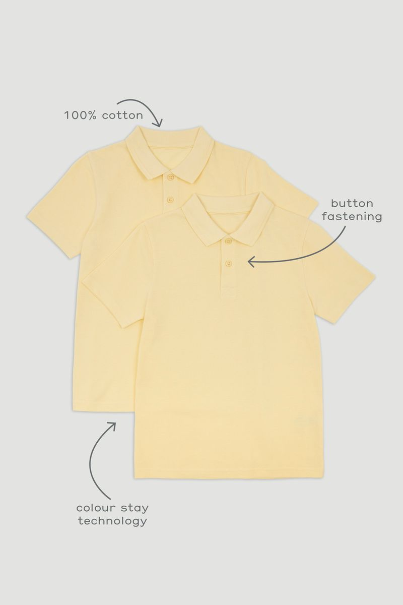 2 Pack Yellow Polo Shirts