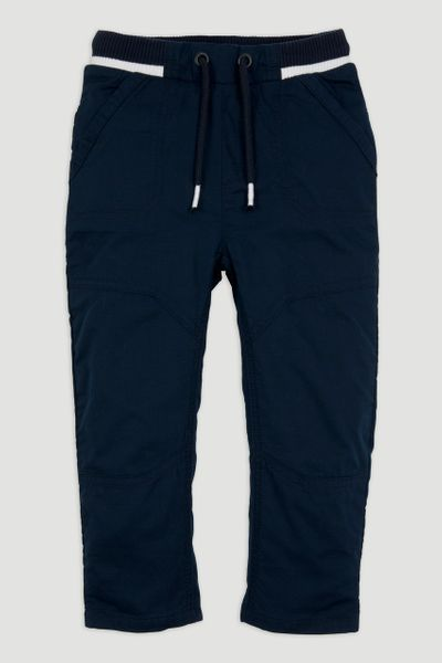 Navy Lined Rib Trousers