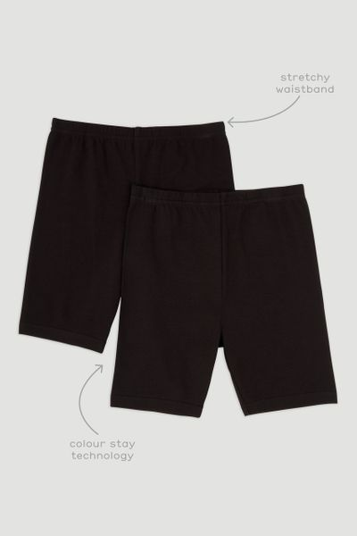 2 Pack Black Cycling Shorts