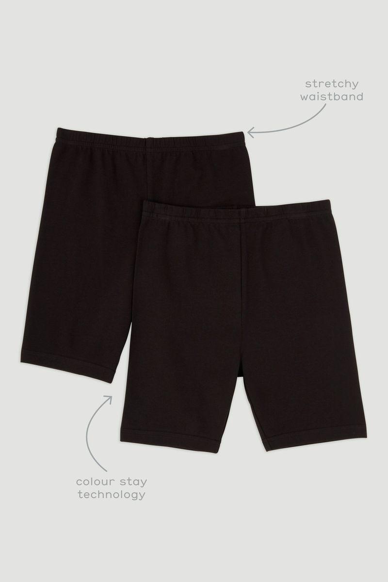 2 Pack Black Cycling Shorts