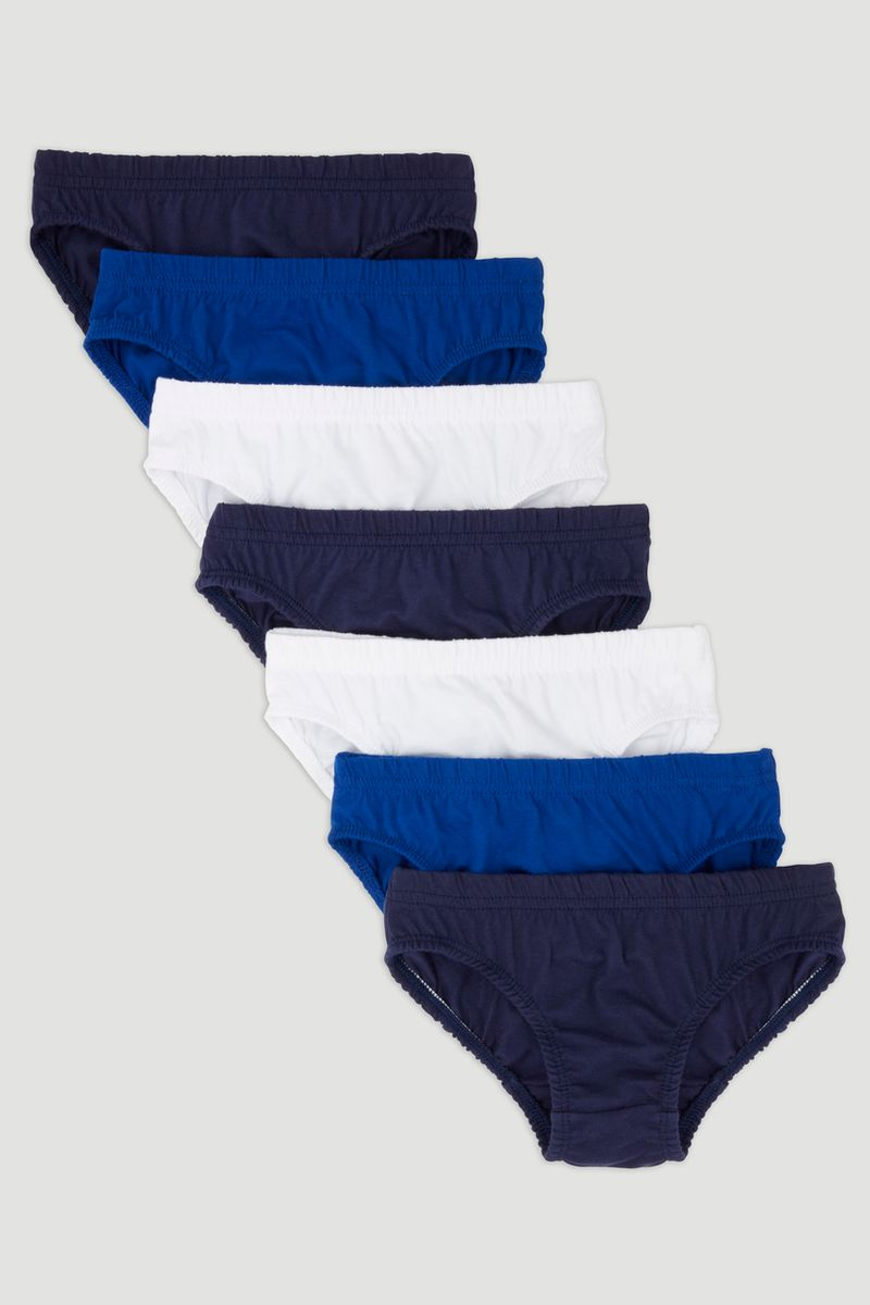 7 Pack Blue Briefs
