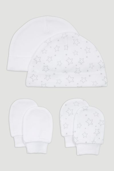 2 Pack Star Hat & Scratch Mitts