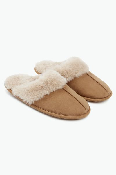 Tan Mule Slippers