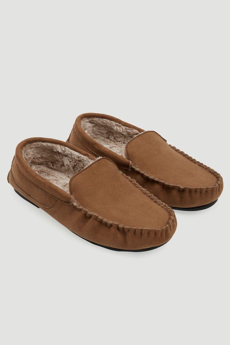 Tan Moccasin Slipper