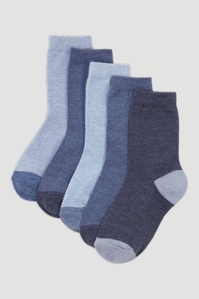 5 Pack Blue Socks