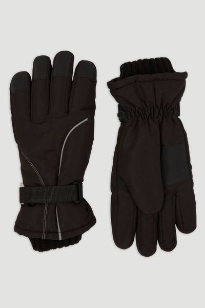 Black Thinsulate Ski Gloves