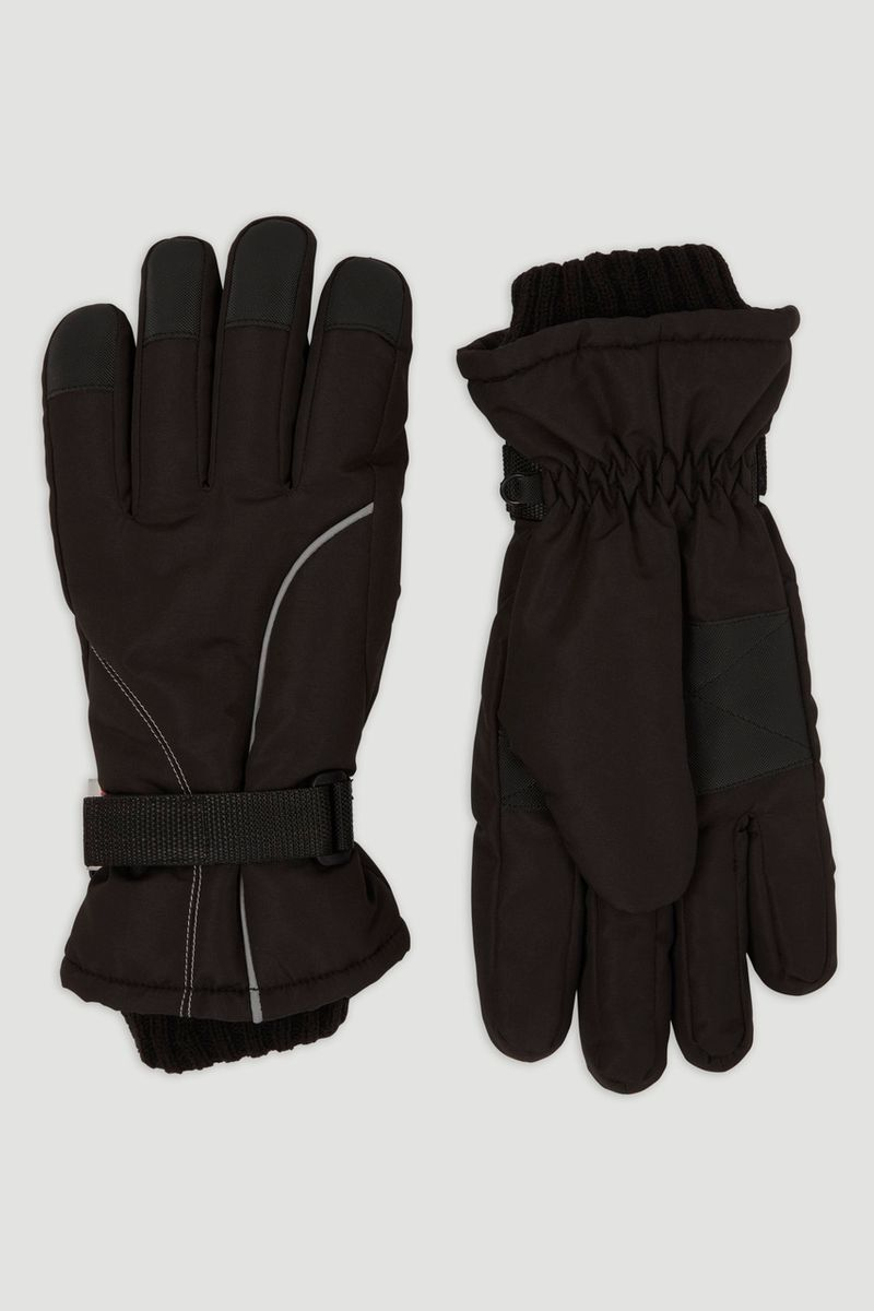 Black Thinsulate Ski Gloves