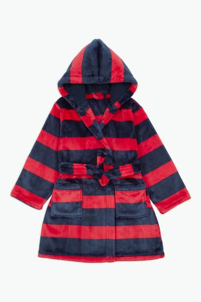 Navy and Red Stripe Robe