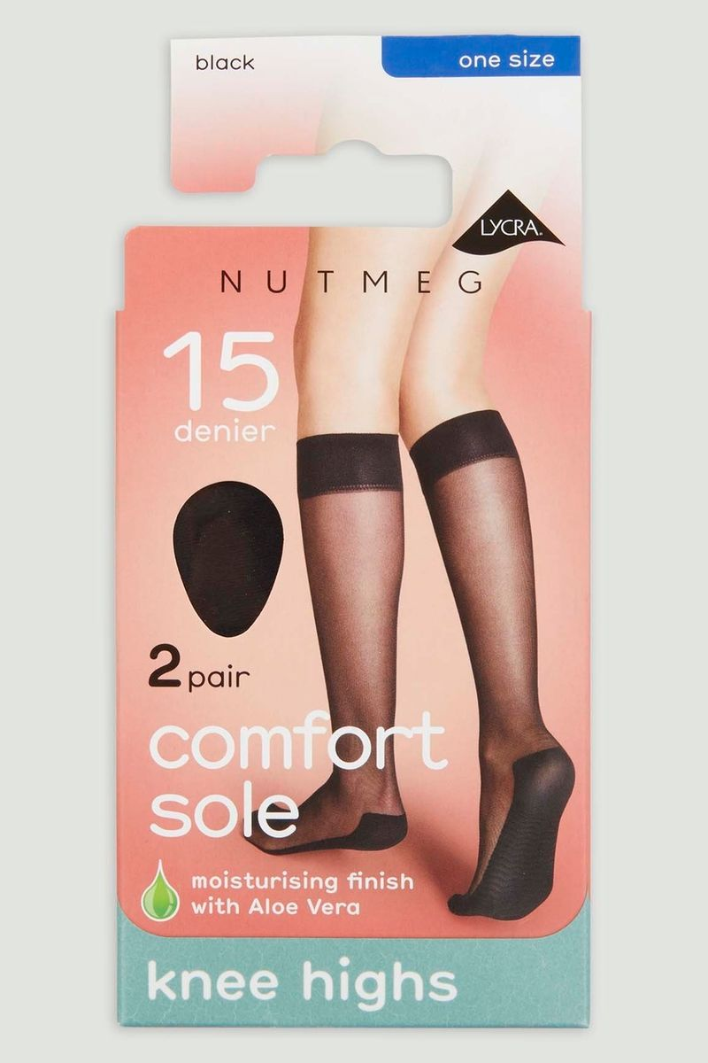 Black 2 Pack 15 Denier Knee Highs