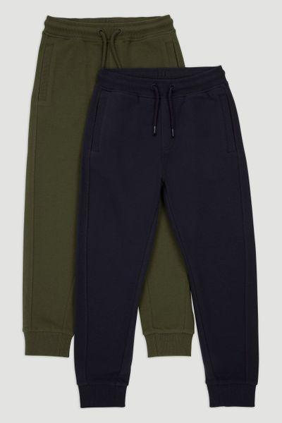 2 Pack Navy & Khaki Joggers