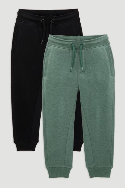 2 Pack Black & Green Jogger