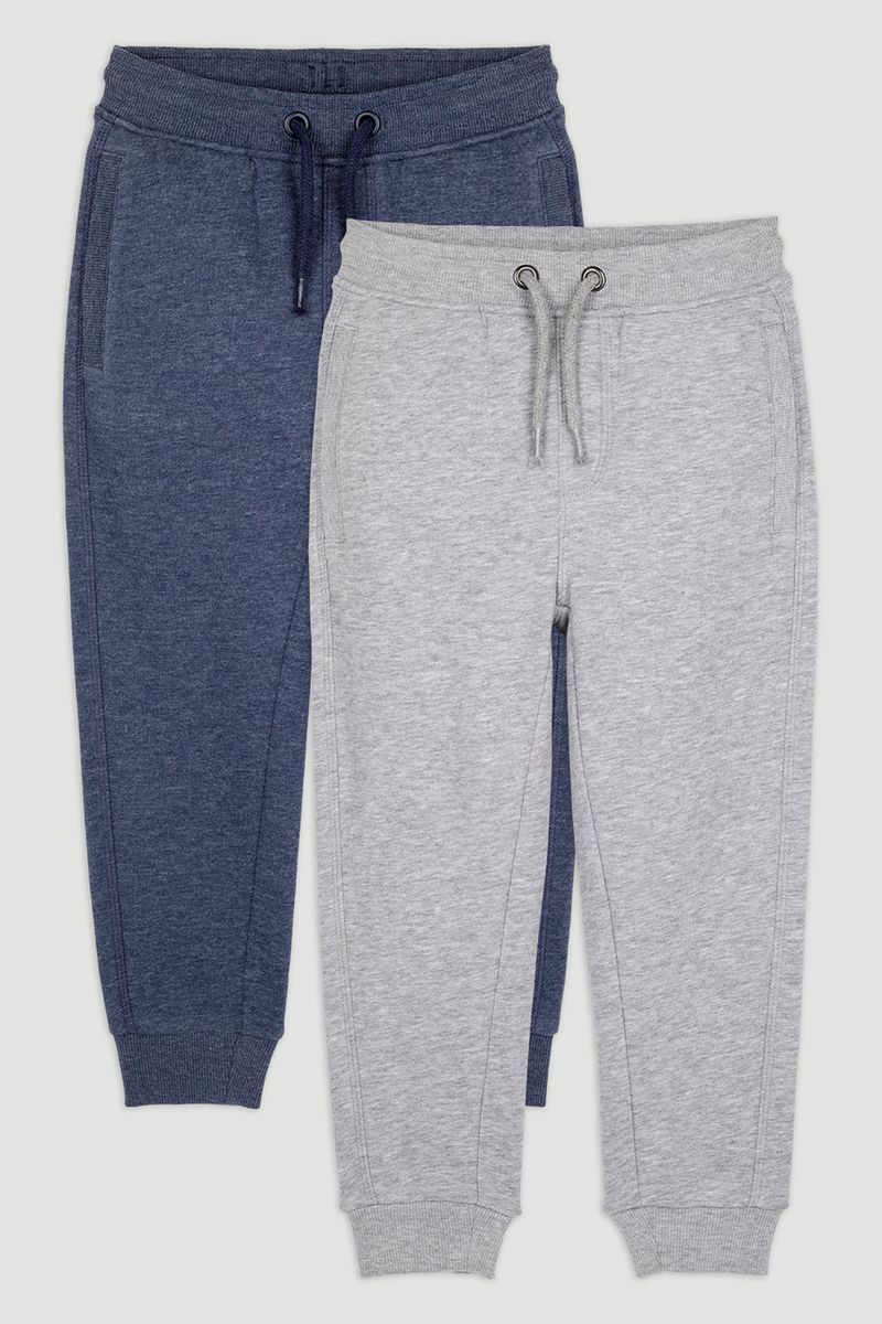 2 Pack Grey & Navy Joggers