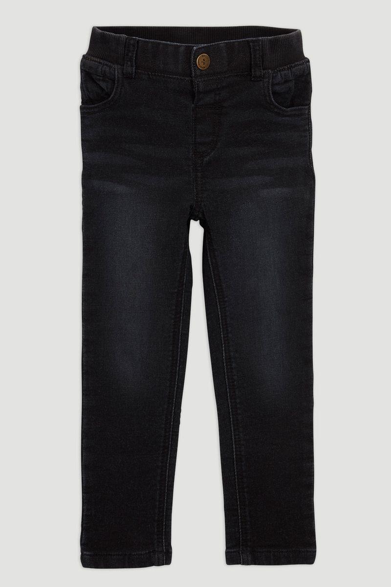 Black Rib Waist Jean
