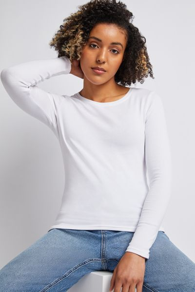 Long Sleeve White Top
