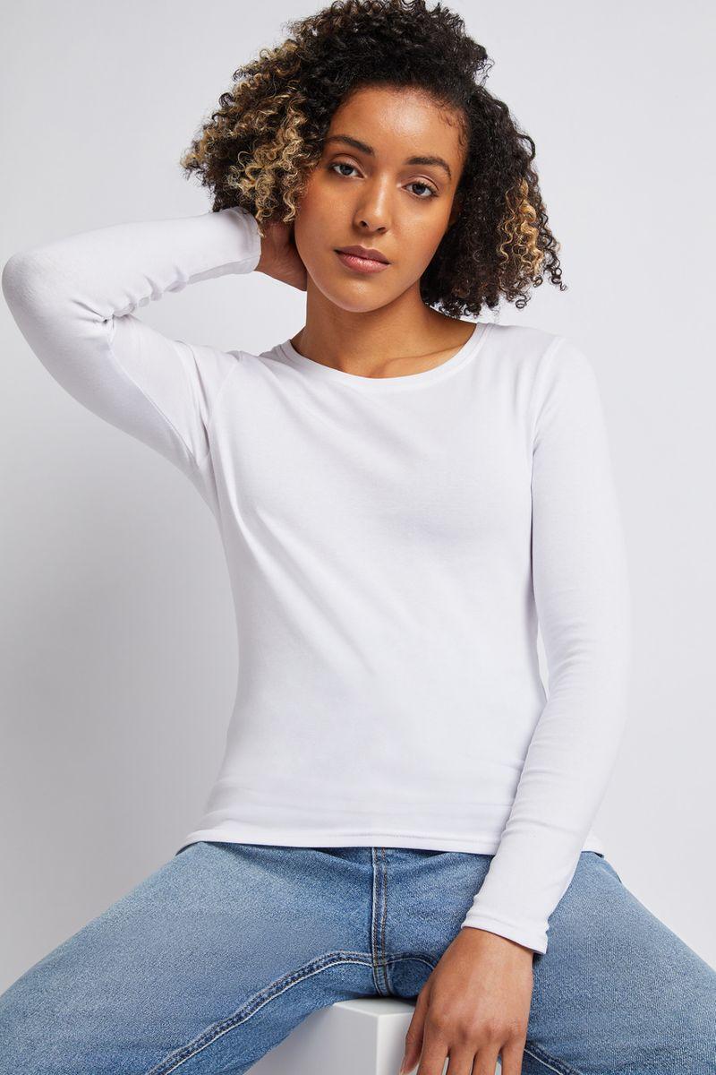 Long Sleeve White Top
