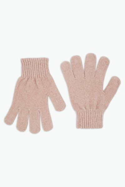 Pink Chenille Gloves