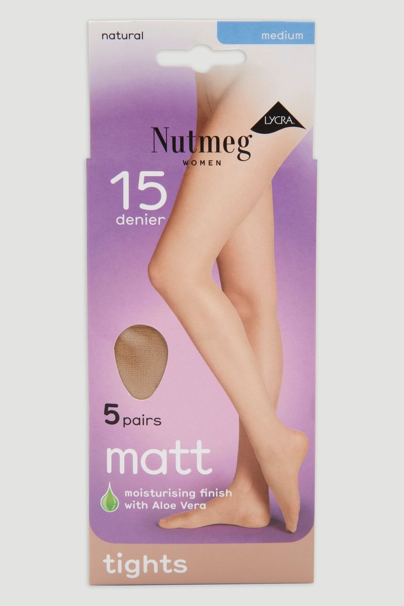 Natural 5 Pack 15 Denier Tights