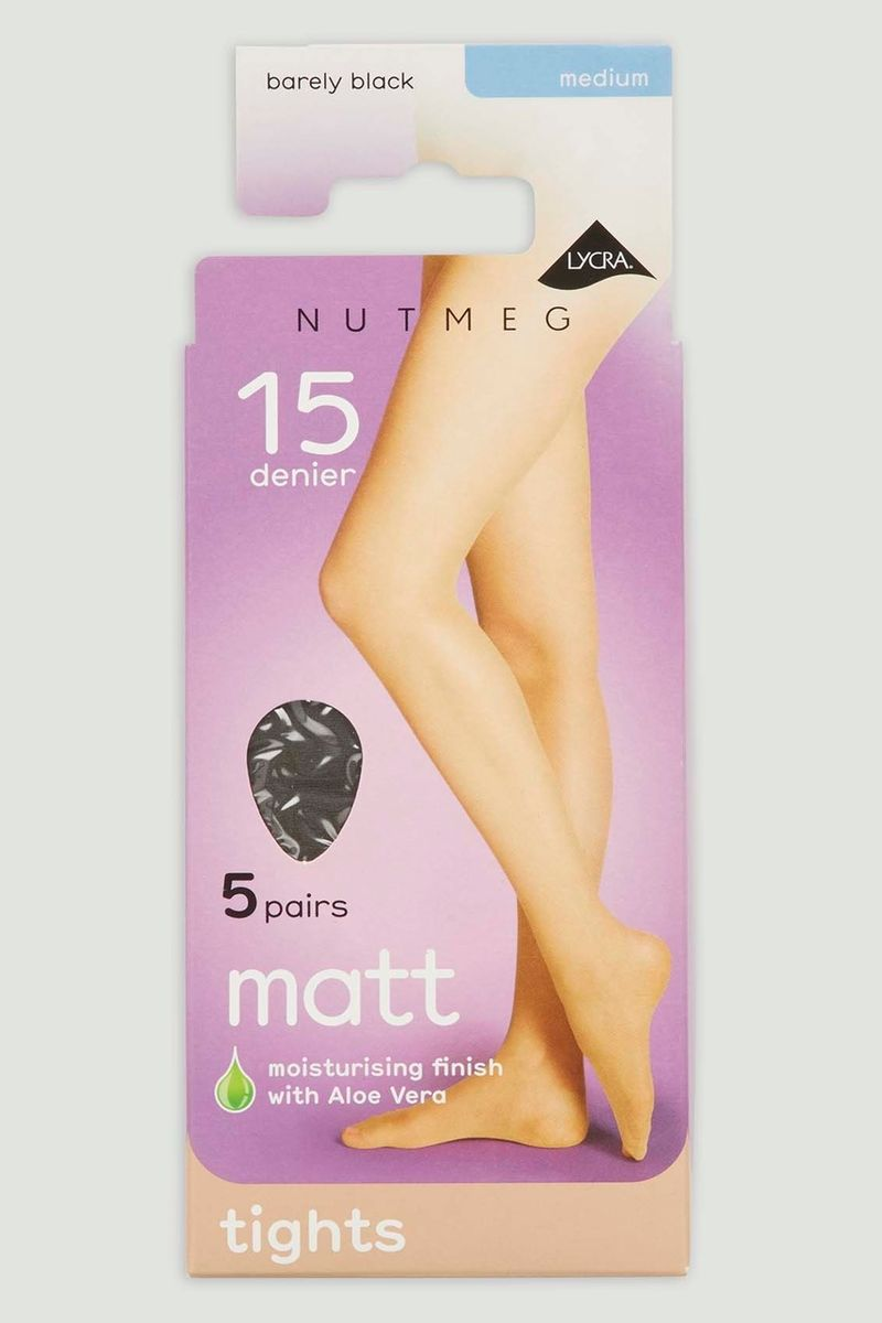 Barely Black 5 Pack 15 Denier Tights