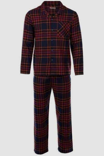 Checked Woven Pyjamas Set