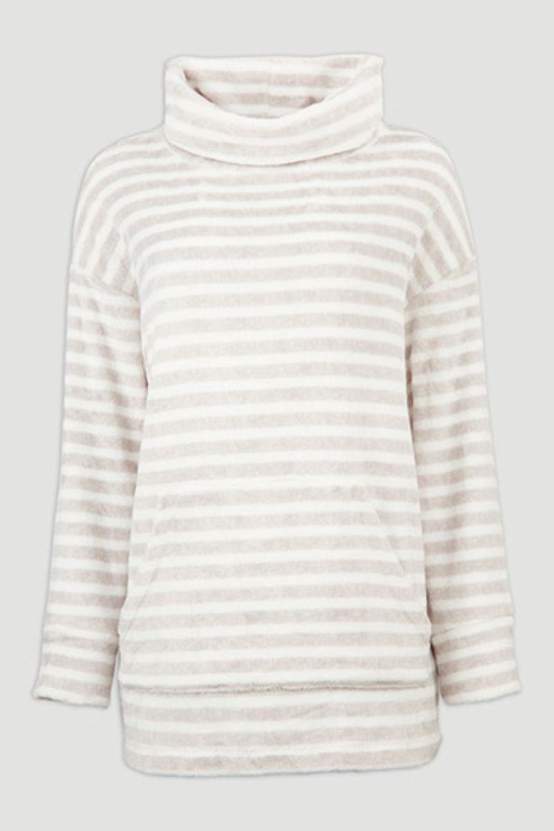 Cowl Neck Fleece Pyjama Sweatshirt