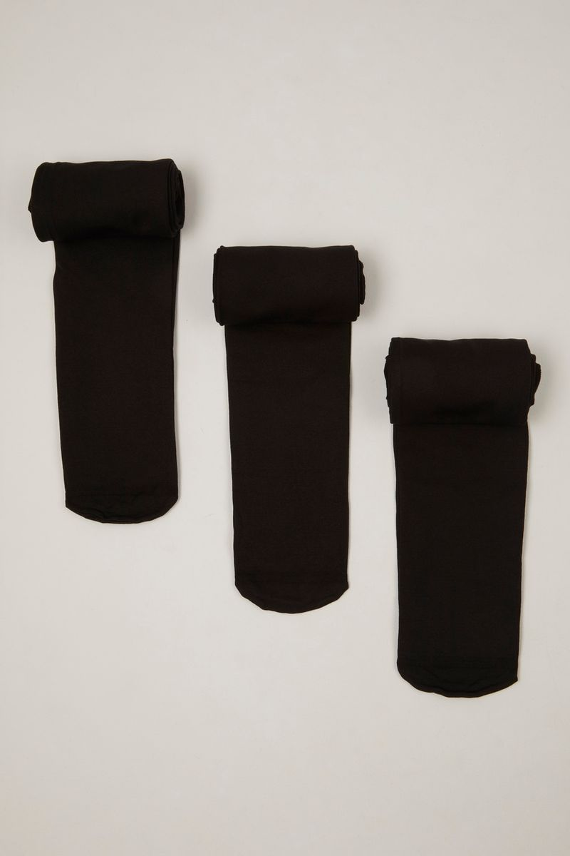 3 Pack Opaque Black Tights
