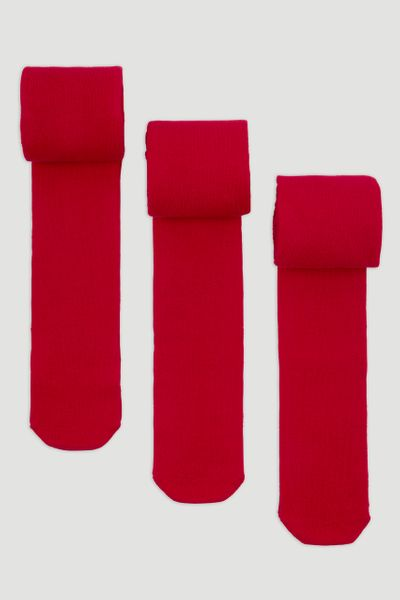3 Pack Super Soft Red Tights