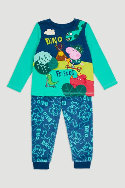 Peppa Pig George Dinosaur Fleece Pyjamas