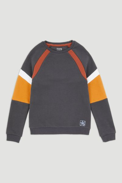 Colour Block Grey Sweatshirt