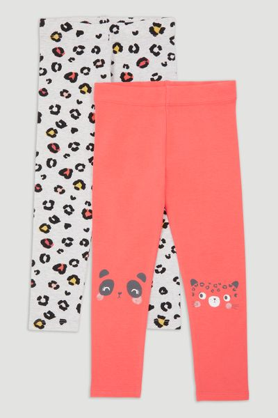 2 Pack Panda Print Leggings